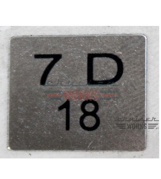 Etiqueta do 7 D 18