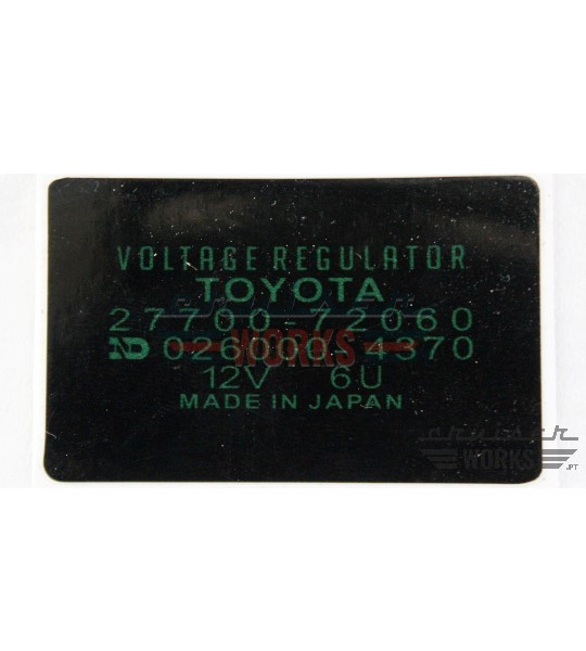 Etiqueta do VOLTAGE REGULATOR TOYOTA