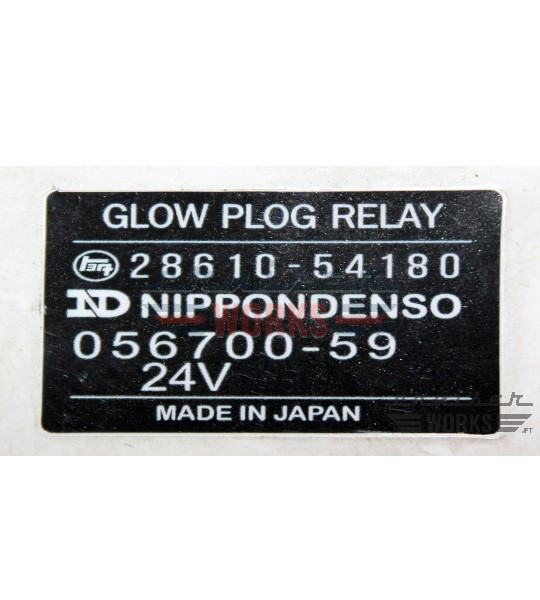 Etiqueta do GLOW PLOG RELAY