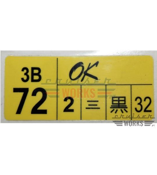 Etiqueta do 3B 72 OK