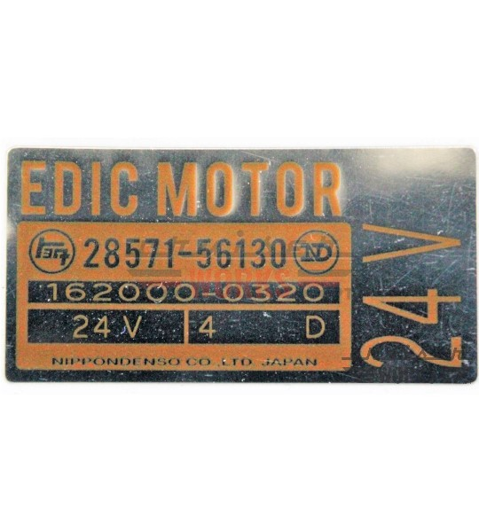 Etiqueta do EDIC MOTOR