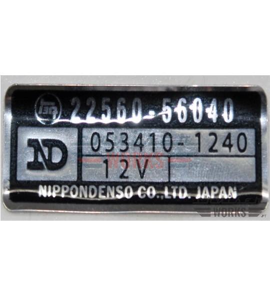Etiqueta do avanço do magnético da bomba
