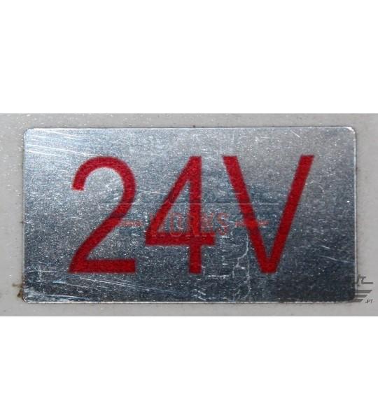 Etiqueta dos 24V