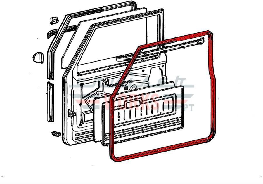Diagrama Borracha porta de frente direita